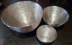 Two's Company Set of Three Silver Wire Nesting Bowls
