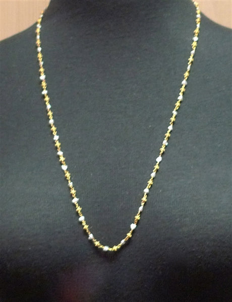 Churchill Private Label 22K Yellow Gold Bead and Keishi Pearl Necklace