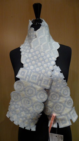 Georgia McKie FairIsle Diamonds and Circles Scarf