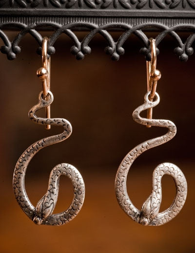 Shannon Koszyk Sterling Silver Serpent Earrings