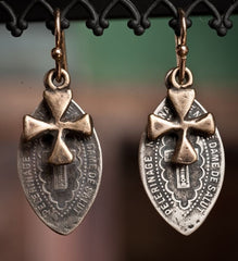 Shannon Koszyk Sterling Silver Notre Dame Earrings