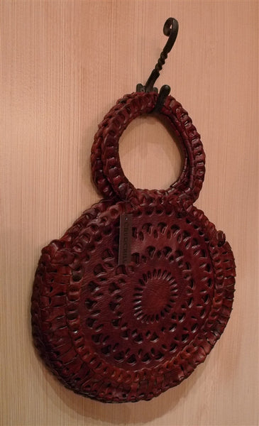 Toobkal Brown Leather Circle Bag