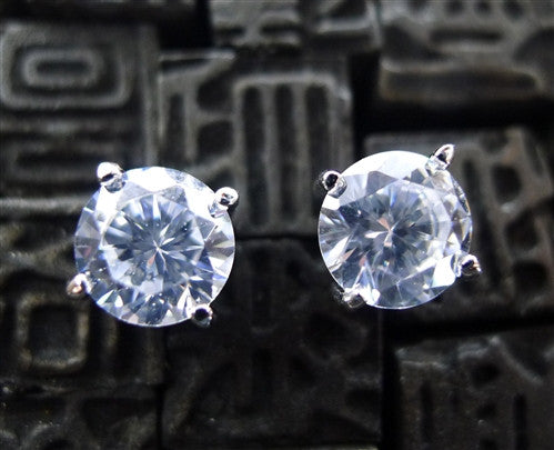 Jardin 8mm 6 CT Diamond CZ Stud Earrings by Kenneth Jay Lane