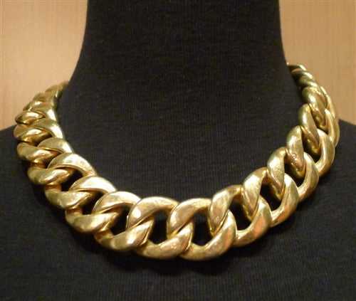 "Steven Vaubel Heavy 22K Goldplate Link Chain Necklace-20"" long"