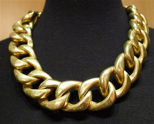 "Steven Vaubel Heavy 22K Goldplate Link Chain Necklace-22"" long"