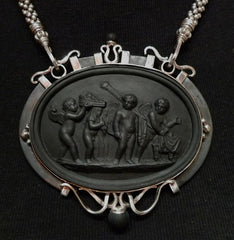 Churchill Private Label Sterling Silver Wedgwood Necklace