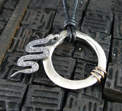 Rebecca Lankford Pave Diamond Snake Necklace