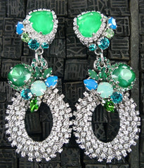 Erickson Beamon Large Bosa Nova Blue Earring