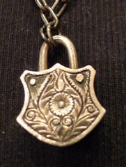 Sevan Bicakci Diamond Torch Lock Pendant in 24K Gold and Sterling Silver