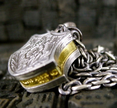 Sevan Bicakci Sterling Silver and 24K Yellow Gold Lock Pendant