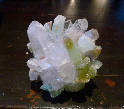 McCoy Green Rock Quartz Crystal Votive Candle