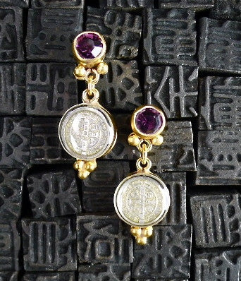Virgins, Saints & Angels San Benito Lucia Post Earrings