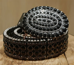 Malini Murjani Black Studded Belt