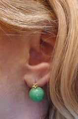 Gabrielle Sanchez 18K Yellow Gold and Chrysophase Earrings