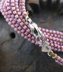 Chan Luu Dusty Pink Bead Necklace