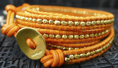 Chan Luu Orange Wrap Bracelet