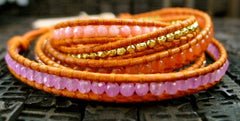 Chan Luu Picante Mix Wrap Bracelet with Gold Vermeil Beads