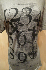 Blk Opm Numbers Tee Shirt - Black on Grey