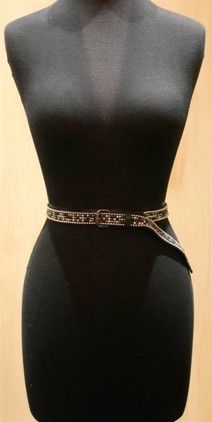 Hollywood Trading Company Malhini Studded Skinny Belt