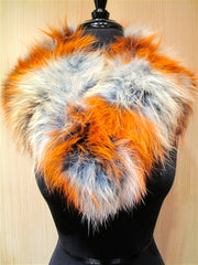 C/FAN Fur Collar - Terra Cotta and Cream