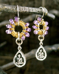 Love Heals Boudeo Earrings in Amethyst