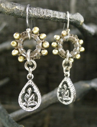 Love Heals Boudeo Earrings- Champagne Pearls