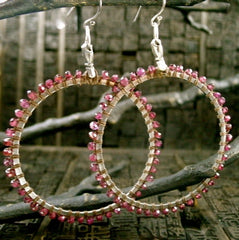 Love Heals Full Circle Earrings - Garnet