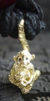 "Catherine Michiels 14K Yellow Gold Love Monkey ""Marcelitto"" Pendant/Necklace"