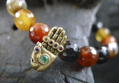 Catherine Michiels Buddha's Hand Bracelet with Emerald