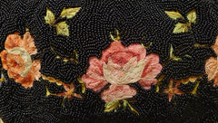Vintage French Crewel and Beaded Evening Bag- Paris