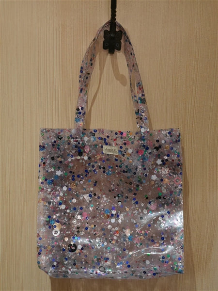 Annie C. Plastic Tote with Sequins Handbag