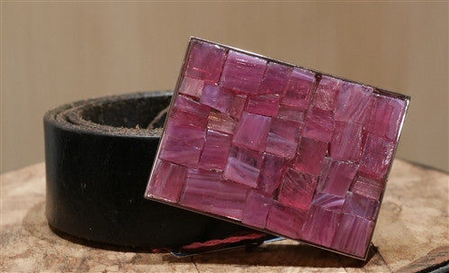 Just Reality Pink Mosaic Infusion Belt