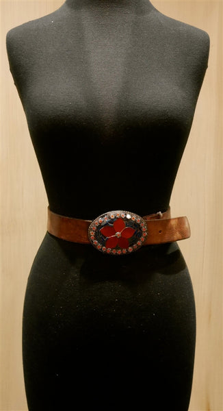 Just Reality Blue and Red Flower Infusion Belt