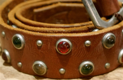 Hollywood Trading Company Multi Color Jewel Stud Belt