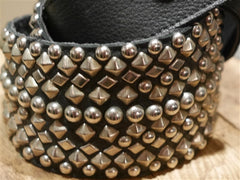 B-Low The Belt Bronze Metallic Studded Belt