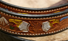 Western Leather Embossed Belt