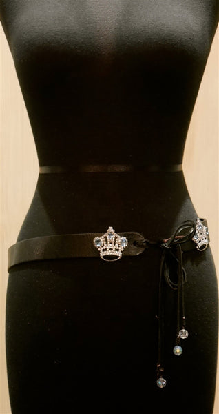 Rachel Abroms Crown Clasp Tie Belt