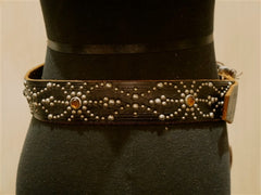 Hollywood Trading Company Multi Studded Brown Belt