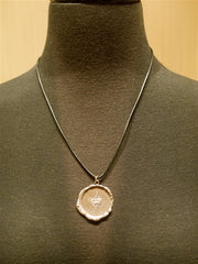 Pyrrha Large Griffon Crest Medal Leather Cord Necklace