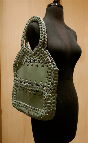 Toobkal Woven Leather Handbag