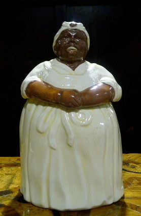 American Painted Ceramic Cookie Jar of Auntie