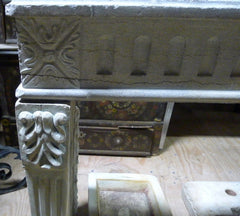 18th Century French Limestone Carved Fireplace Surround and Mantle - One of a Kind