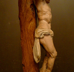 Continental Carved Crucifix Depicting Christ on Golgotha