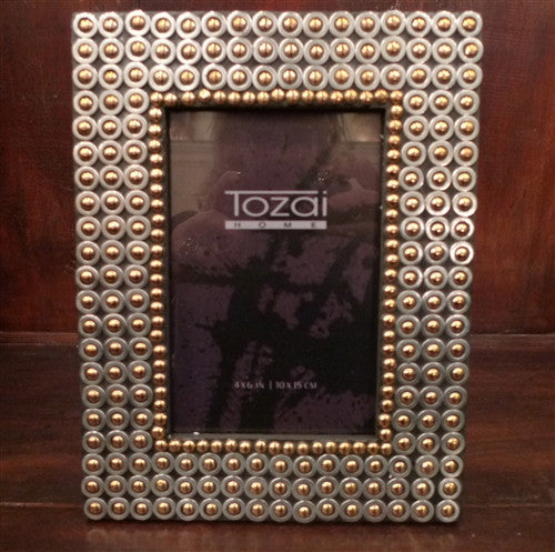 Two\'s Company Tozai Gunmetal Studded Picture Frame | CHURCHILL in ...