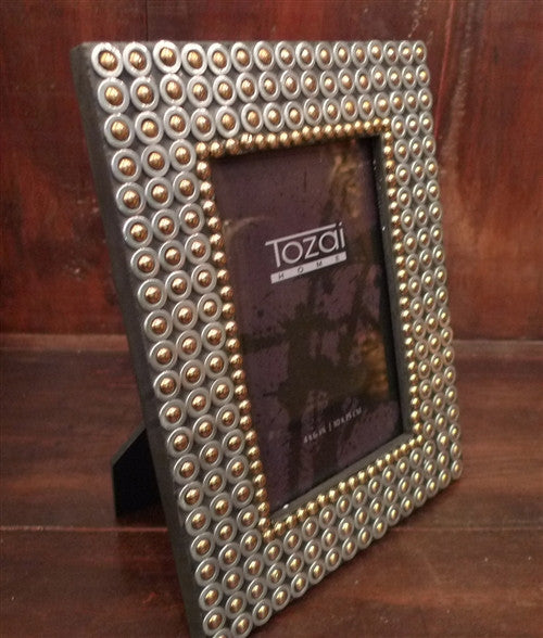 Two's Company Tozai Gunmetal Studded Picture Frame