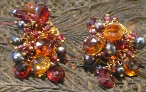 Alexis Bittar Multi-Gemstone Cluster Clip Earrings