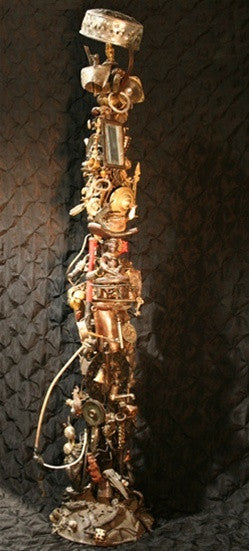 African Lamp Found Art/Folk Art Fixture - One of a Kind