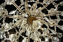 French Twelve Light Crystal Chandelier in the Manner of Bagues