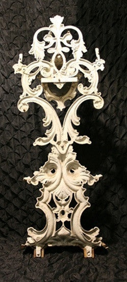 Antique Victorian White Cast Aluminum and Iron Coat/Hall Tree