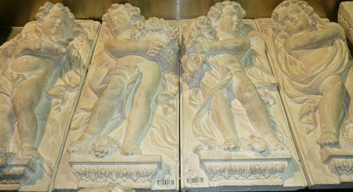 Set of Four Plaster Relief Panels of the Four Seasons